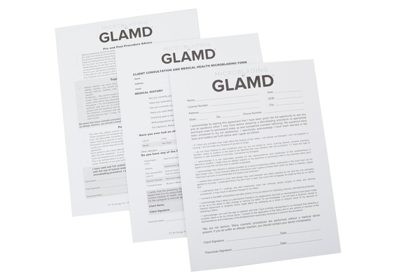 CLIENT MEDICAL FORMS 3 PACK - BGLAMD STORE